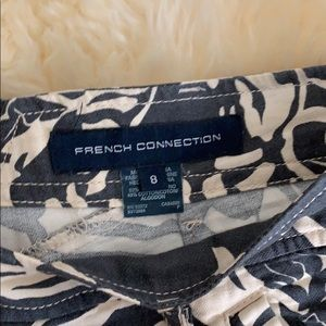 French Connection Shorts - French Connection Blue/Wht Pattern Shorts, Size 8